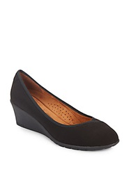 Hush Puppies Sabrina Textile Wedge Loafers Black