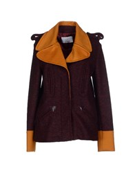 Gianfranco Ferre Gf Ferre' Coats And Jackets Coats Women Maroon