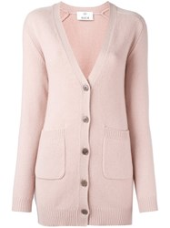 Allude Button Down Cardigan Nude And Neutrals
