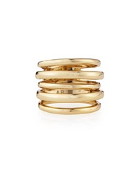 Alexis Bittar Miss Havisham Kinetic Golden Layered Ring Rose Gold