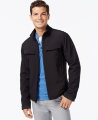 Inc International Concepts Soft Shell Zip Front Jacket Black