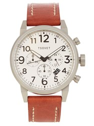 Tsovet Jpt Ts44 Leather Watch Tan