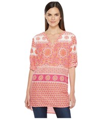 Hatley Cotton Embroidered Tunic Mix Matched Mandella Women's Clothing Pink