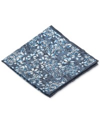 Ryan Seacrest Distinction Botanical Pocket Square Blue