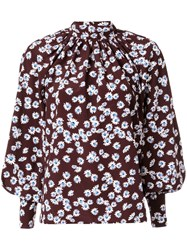 Anna October Daisy Print Blouse Brown