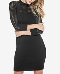 Guess Alison Knit Bodycon Dress Jet Black