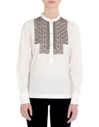 Day Birger Et Mikkelsen Geometric Button Down Shirt White