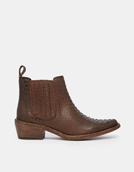 Gardenia Leather Flat Chelsea Boots Anacondabrown