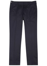 Moncler Navy Stretch Cotton Chinos