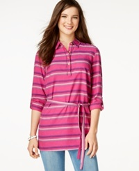 Tommy Hilfiger Striped Belted Tunic
