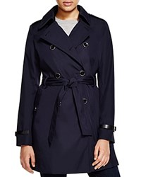 Via Spiga Lightweight Trench Coat Navy