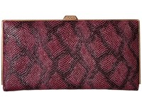 Lodis Party Python Quinn Clutch Wallet Sangria Wallet Handbags Red