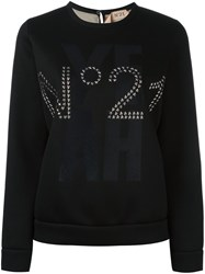 N 21 No21 Studded Logo Sweatshirt Black