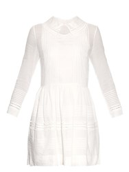 Saint Laurent Double Collar Cotton Dress White