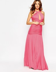 Forever Unique Spritz Wrap Front Maxi Dress With Keyhole Watermelon
