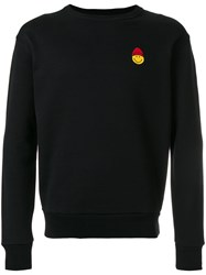 Ami Alexandre Mattiussi Sweatshirt With Smiley Patch Black