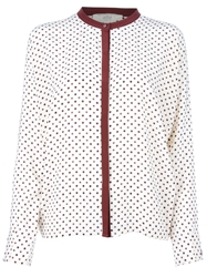 Vanessa Bruno Athe Spotty Blouse Nude And Neutrals