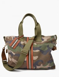 Valentino Camouflage Canvas Tote Bag Green