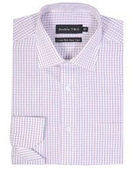 Double Two Men's Patterned Formal Shirt Pink