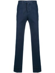 Kiton Regular Fit Chinos Blue