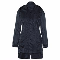 Ducktail Raincoats Women's Glossy Black Tail Raincoat