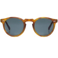 Oliver Peoples Gregory Peck Matte Light Tortoise Sunglasses Brown