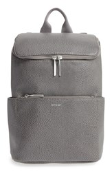 Matt And Nat 'Brave' Vegan Leather Backpack Grey Carbon