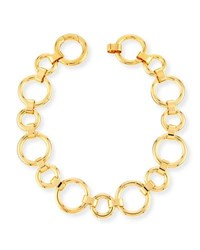 Vita Fede Moneta Circle Link Choker Necklace Gold