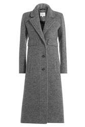 Carven Coat With Virgin Wool Grey