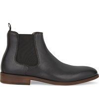 Aldo Croaven Leather Chelsea Boots Black Leather