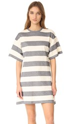 The Fifth Label Chelsea T Shirt Dress Natural Navy Stripe