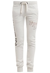 Superdry Tracksuit Bottoms Offwhite Silver Off White