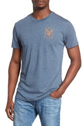 Rvca Men's Graphic T Shirt Dark Denim
