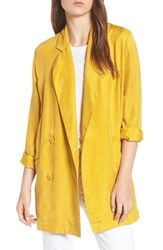 Trouve Double Breasted Longline Blazer Yellow Nugget