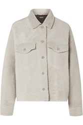 Utzon Shearling Jacket Light Gray
