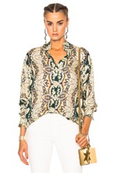Etro Printed Blouse In Floral Green Floral Green