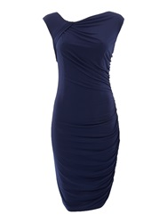 Pied A Terre Gathered Jersey Dress Navy