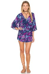 Michael Stars City Lights 3 4 Sleeve Romper Purple