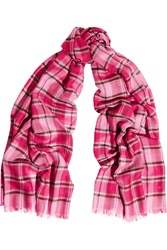 Tomas Maier Plaid Cashmere And Silk Blend Scarf