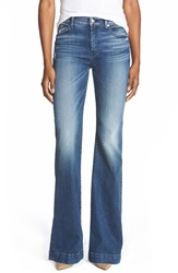 7 For All Mankind 'Tailorless Dojo' Wide Leg Jeans Lake Blue