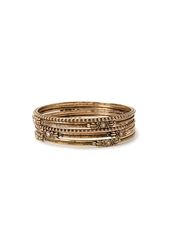 Forever 21 Engraved Rhinestone Bangle Set