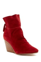 Matisse East Wedge Bootie Red