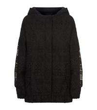 N 21 No. Broderie Anglaise Hooded Jacket Female Black