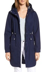 Joules Women's Right As Rain Waterproof Hooded Jacket French Navy