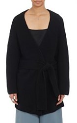 Ryan Roche Women's Cashmere Wrap Belted Cardigan Black