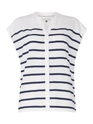 Maison De Nimes Stripe Button Through Shirt White
