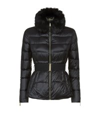 Ted Baker Junnie Faux Fur Collar Coat Female Black