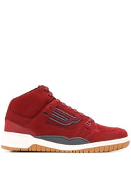 Bally King High Top Sneakers Red