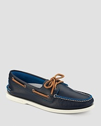 Sperry A O 2 Eye Dual Tone Boat Shoes Navy Blue