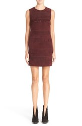 Women's Burberry Brit 'Noella' Fringe Suede Sheath Dress